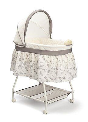 Sweet Beginnings Baby Bassinet Children Sleeping Nursery Furniture Mobility