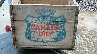 Vintage Canada Dry Wooden Crate  Dated 1962