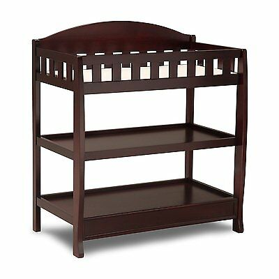 Delta Children Infant Changing Table with Pad Espresso Cherry