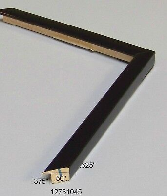 Black square laquer NEW modern PICTURE FRAME Moulding PHOTO wood