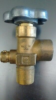 Sherwood brass industrial gas valve CGA580 3000 psi