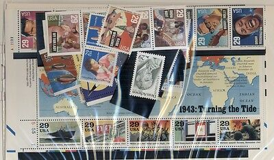 U.S. DISCOUNT POSTAGE 1993 YEARSET, complete in package - all 29¢  Face $22.88