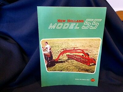 1950's New Holland 55 Rolabar Side Delivery Rake Brochure Farm Tractor Equipment