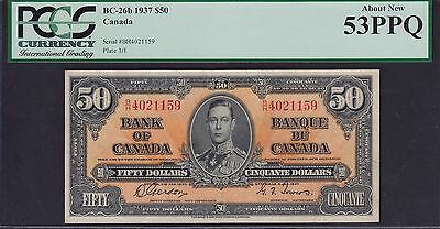 1937 Bank of Canada $50 Bank Note - B/H4021159 BC-26b Gordon - Towers Signatures