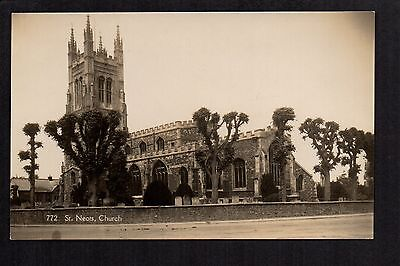 St. Neots Church - real photographic postcard