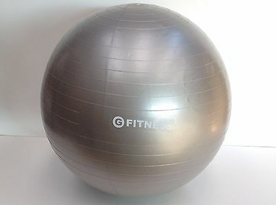 Gym Ball Exercise Swiss Yoga Fitness Pregnancy Birth Injury Aerobic (65Cm) Grey