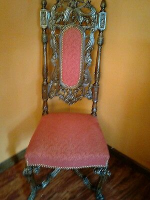 GOTHIC Throne Chair Carved Mahogany  ~ King~ Queen GARGOYLE ACCENTS ANTIQUE old