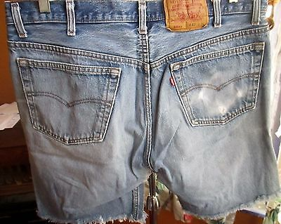 "36W 36""  FIT True Vtg 90s Faded Fray Levis 501 Buttonfly Mens Denim Jeans Shorts"