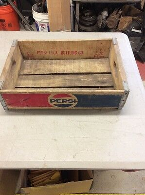 Vintage Pepsi Cola Wood Soda Pop Crate Good Used Condition