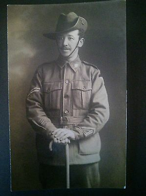 Vintage postcard of soldier, possible WW1