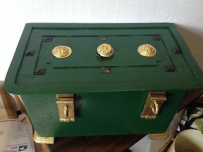 MUSEUM QUALITY GERMAN ARMADA STRONGBOX WAR CHEST 18th CENTURY ORIGINAL KEYS