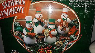 Mr Christmas Snowman Symphany Very Rare Animated and Musical