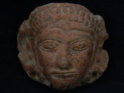 Ancient Teracotta Head Bactrian C.300 BC  #TR742