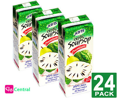 Jans Soursop Premium Exotic Juice 8.45Fl.oz(250ml) PACK-24