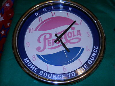 Vintage Pepsi Cola Wall Clock - Drink - More Bounce to the Ounce Keeps good time