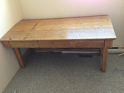 Antique oak work console app. 100 years old