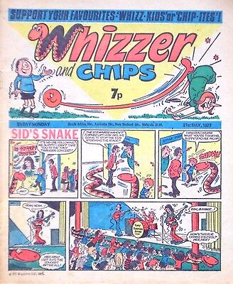 WHIZZER & CHIPS - 21st MAY 1977 (16 - 22 May) - RARE 40th BIRTHDAY GIFT !! VGC
