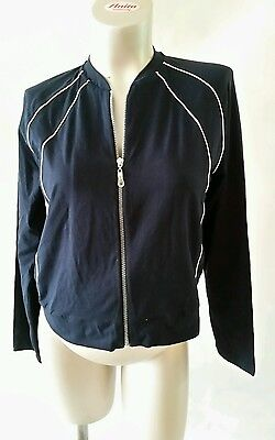 [112] Noppies Maternity Blue Tracksuit Top (UK 16/18) Brand New