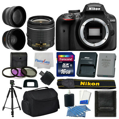Nikon D3400 Digital SLR Camera +18-55mm VR AF-P Lens +16GB +More Great Value Kit