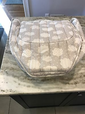 New Baby Delight Snuggle Nest Surround XL Infant Sleeper - Grey Clouds FREE SHIP