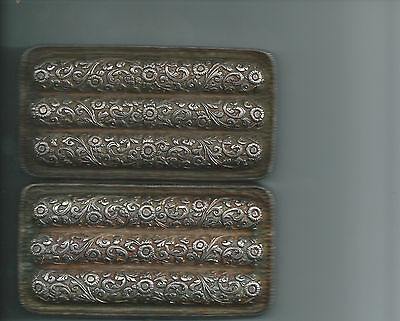 Antique repousse silver cigar case 202 grams 6 1/2 tr oz