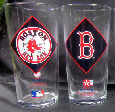 4 SAME Boston Red Sox Pint Beer Drinking Glasses 1994 Texaco All Star Game