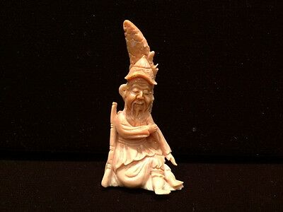 Superb Antique Chinese Hand-Carved Coral Figurine