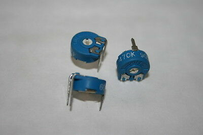 470K HORIZONTAL PRESET  VARIABLE RESISTOR (x3)                            fd1a13