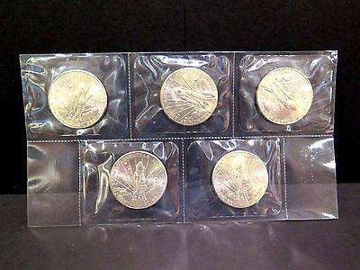 5 Coins 1988 Marshall Island Launch of Space Shuttle Discovery $5 Commemorative