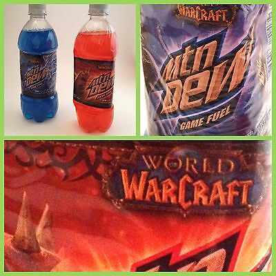 Rare World of Warcraft Mountain Dew Promotional Lot Sealed Bottles MTN DEW