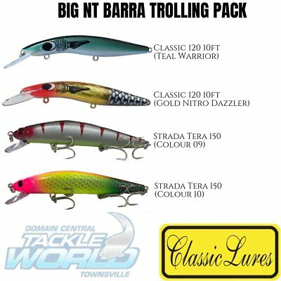 Classic Lures Big NT Barra Trolling Pack (4 Lure Value Pack) BRAND NEW