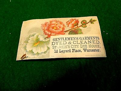 Starkie's City Dye House Worcester, MA Garments Dyed & Cleaned Victorian Card Y6