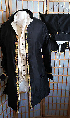 George Washington Colonial Costume french revolution Men's Frock coat