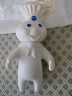 "VTG PILLSBURY DOUGHBOY Rubber Toy Doll  7"" Advertising Promo with Orig Packaging"