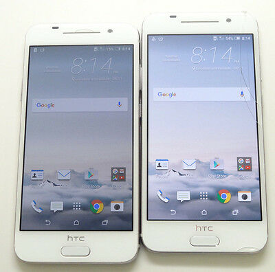 Lot of 2 HTC One A9 2PQ9120 AT&T Smartphones Power On Good LCD AS-IS *