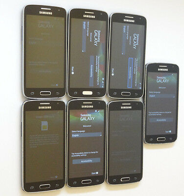 Lot of 7 Samsung Galaxy Avant T-Mobile Smartphones Power On Good LCD AS-IS GSM