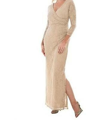 Mother of Bride Groom Wedding evening prom Women's Lace dress Gown plus XL1X 2X