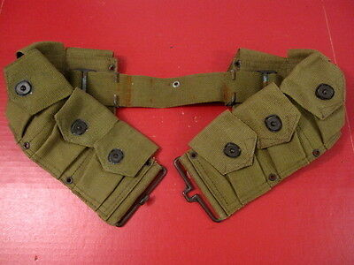 WWII US Army  M1923 Cartridge Ammo Belt for M1 Garand - OD Green - Repro