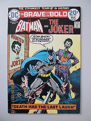 1974 The Brave And The Bold #111 Batman And The Joker Very Fine- Vf- 7.5