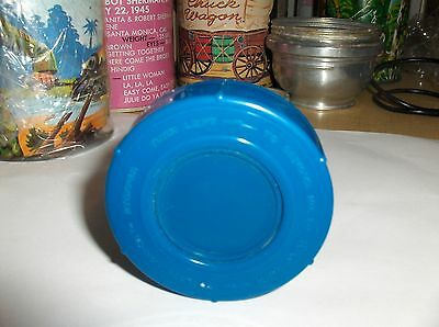 Dark Blue Plastic-Aladdin,Thermos Stopper-Lox 30`Fits Many Thermoses,Rare