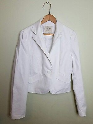 Old Navy Womens White Blazer Casual Coat One Button Size S