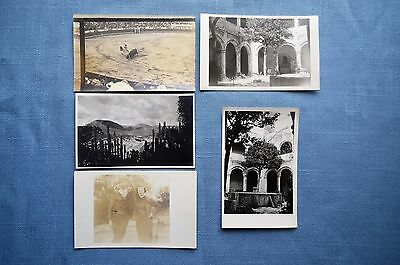 Lot of 5 Mexican Related Post Cards and Photo of Bull Fight