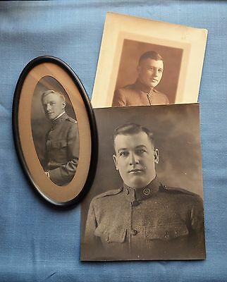 Grouping of 3 Photos, WWI Soldiers