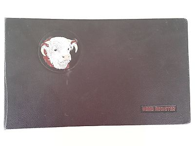 Vintage Hereford Cow / Cattle Herd Register Two-Ring Binder