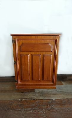Vintage 1970s Teak veneer Drinks Bar Storage Cabinet retro teak bar Cupboard