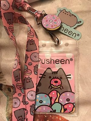 Pusheen Donuts Lanyard Neckstrap With Donut Charm