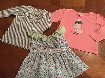 Seed & Country Road baby girl tops X 3 - Size 3-6 mths - EUC!