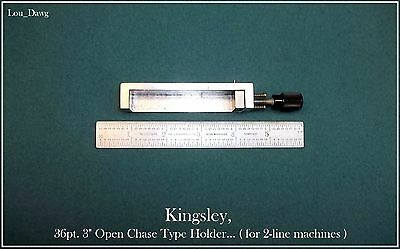 "Kingsley Machine ( 36pt. 3"" Open Chase Type Holder ) Hot Foil Stamping Machine"
