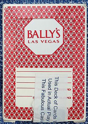 ** ONLY 2 LEFT** BALLY'S Las Vegas Casino Playing cards (sealed by Casino)
