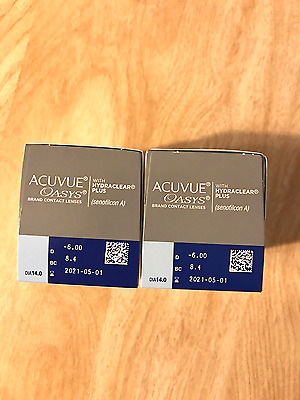 Acuvue Oasys Hydraclear plus (2 x 24 PACK) D -6.00 BC 8.4